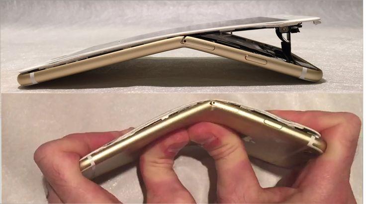 Iphone 6 Plus bend test-TOTAL DESTRUCTION
