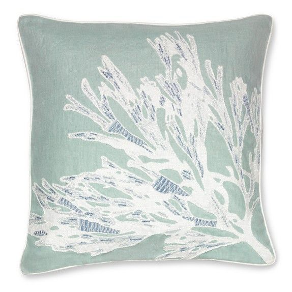Modern Family Throw Pillows : Sea Flower Applique Pillow Cover, 24 For my living room - sitnice Pinterest Applique ...