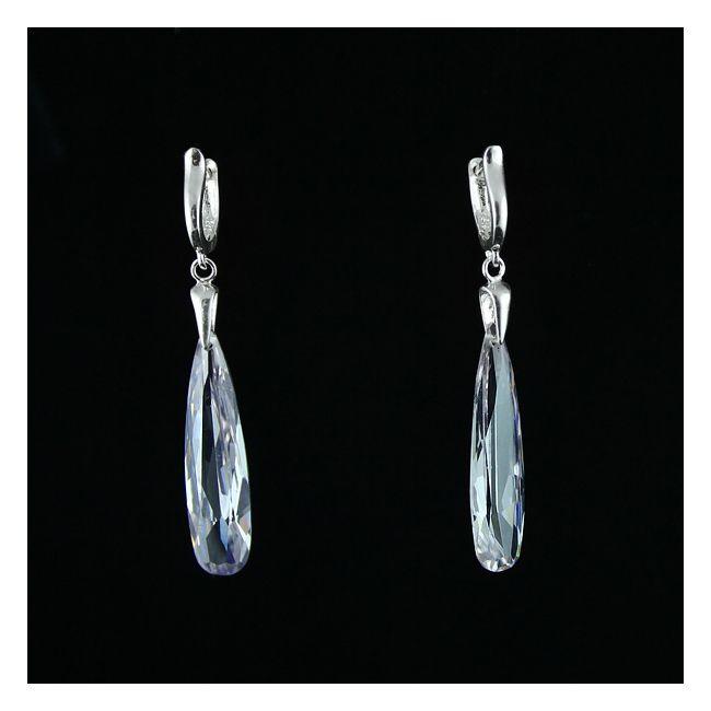 Transparent slenderness - long slender drops od cubic zirconia