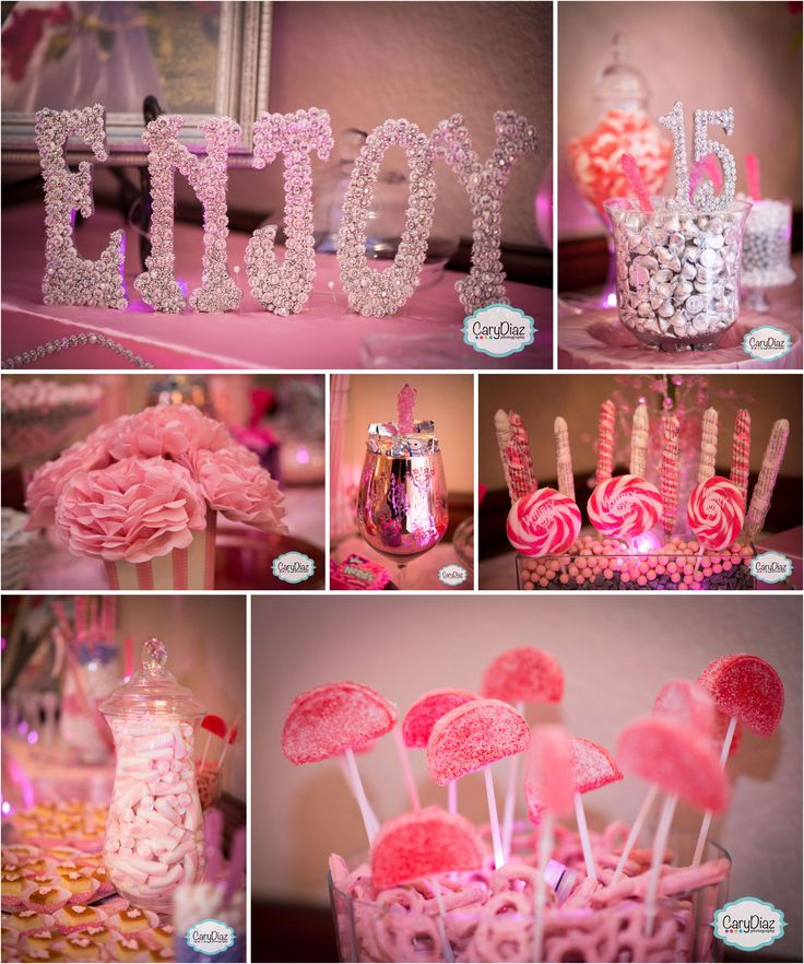 pink candy bar idea for a quinceaera carly diaz photography