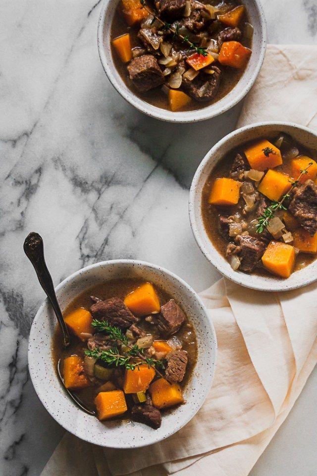 Butternut Squash Beef Stew Whole30 Aip Paleo Recipe