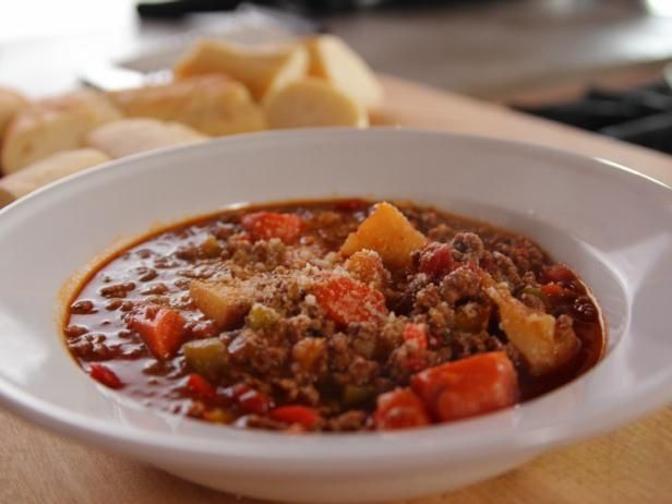 Get Ree Drummond's Hamburger Soup Recipe from Food Network