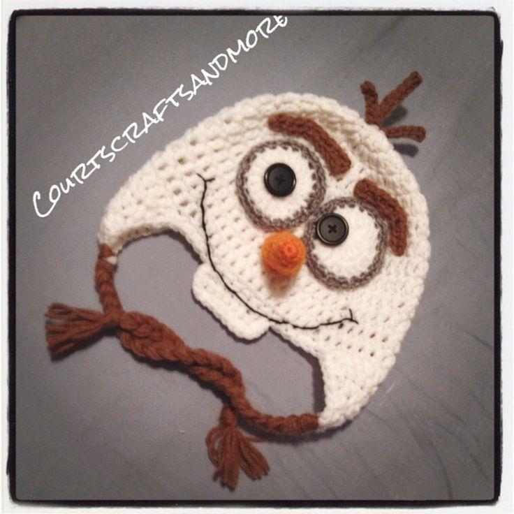 Olaf Crochet Hat Snowman Hat Crochet Hat by CourtsCraftsandmore