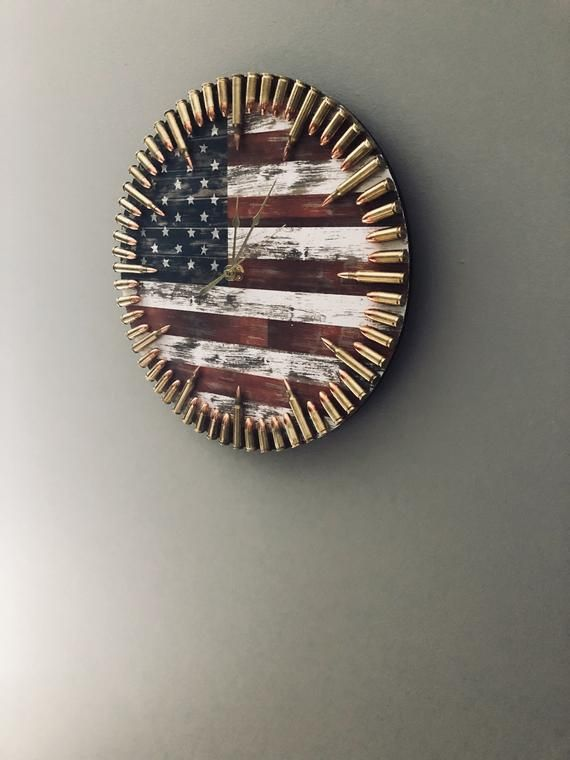 Patriotic Flag Bullet Clock The Ultimate Veteran Gift And Any Freedom Loving American Gifts For Veterans Patriotic Flag Clock