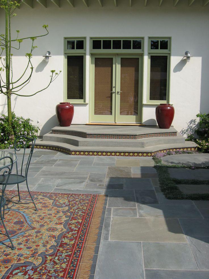 Decorative Patio Carpet Painting Ceramic Tiles Outdoor