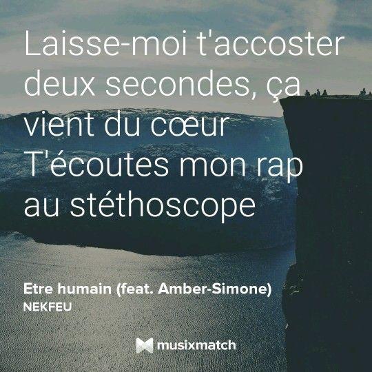 Être humain - Nekfeu feat. Amber-Simone