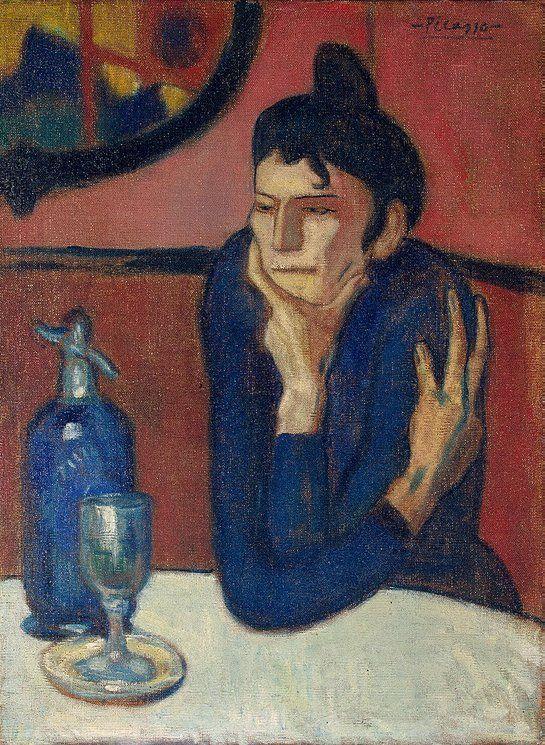 Pablo Picasso, 1901-02, Femme au café (Absinthe Drinker), oil on canvas, 73 x 54 cm, Hermitage Museum, Saint Petersburg, Russia