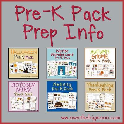 Pre-K Packs