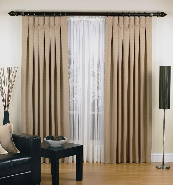 When One Needs Extra Long Curtain Rods | Drapery Room Ideas
