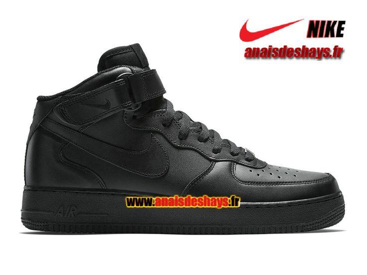 new styles 732ca 517de Boutique Officiel Nike Air Force 1 Mid 07 Homme Noir 315123-001    anaisdeshays.fr   Pinterest   Nike air force, Nike air et Force