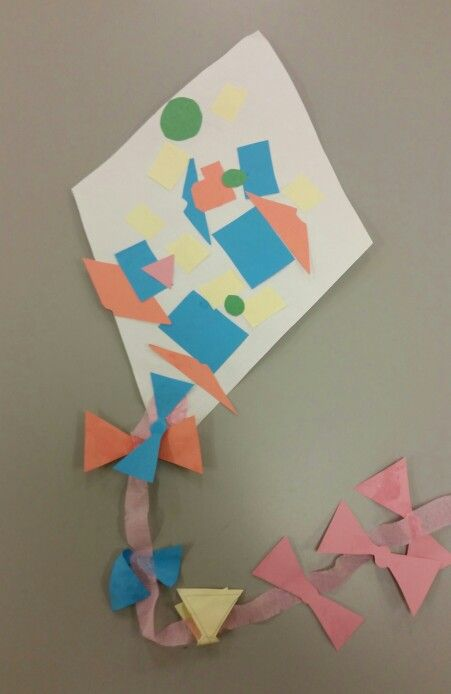 The students made their own kites. #ECE