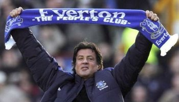 Sylvester Stallone supports Everton