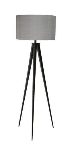 Stehleuchte Tripod Schwarz Grau Lampenschirm Auseinander GebautZur Verwendung Mit Leuchtmittel E27