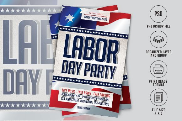 Labor Day Flyer Graphic By Ayumadesign Creative Fabrica