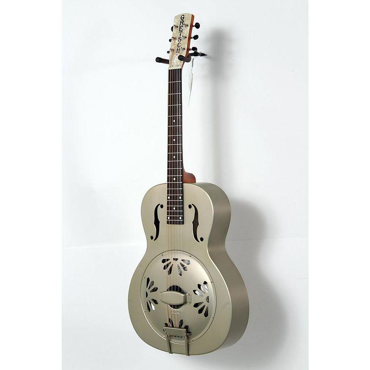 Gretsch Guitars Root Series G9201 Honeydipper Metal Round Neck Resonator Nickel Plated Brass Body 190839095640