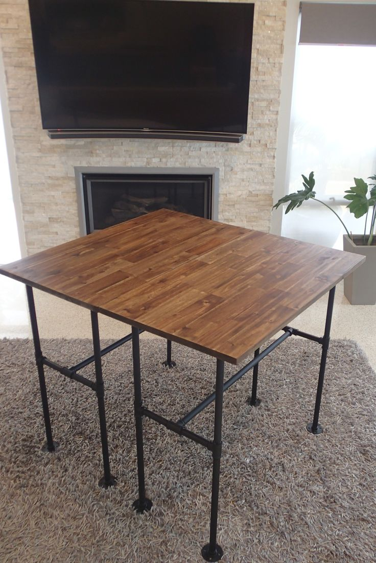 Acacia and Industrial Pipe Table https://www.facebook.com/media/set/?set=a.247974112332127.1073741836.207739536355585&type=3