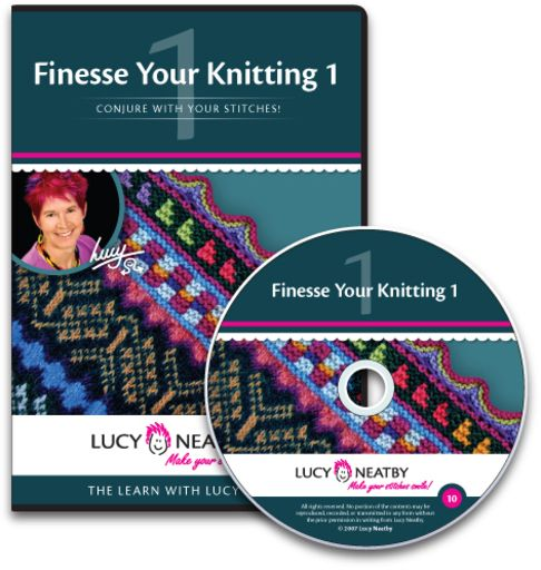 Finesse Your Knitting 1   If you've ever wondered how to put in an afterthought pocket, a perfect buttonhole in two layers of knitting at once, or how to graft anything to anything else invisibly, here's the DVD for you!