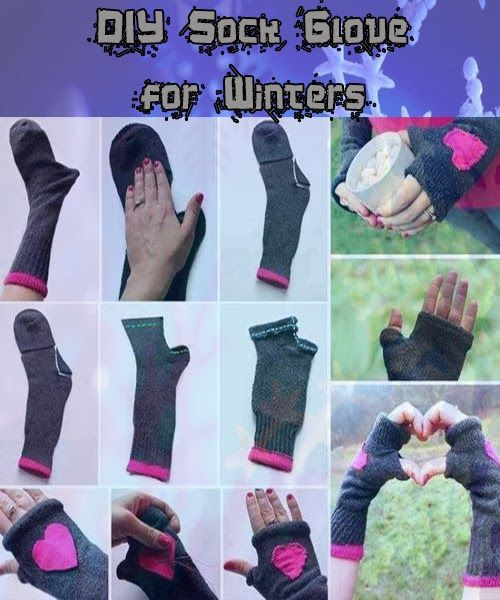DIY Sock Glove #upcycling -- thanks @K T LoverOfWords