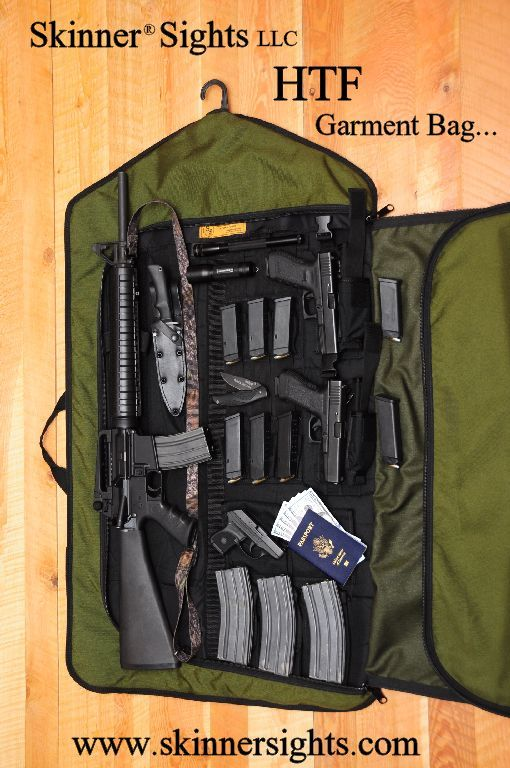 Skinner Sights Garment Bag Guns Survival Gear Weapon