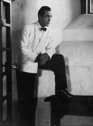 The classic white dinner jacket done best by Bogey.