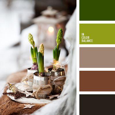 """""""пыльный"""" зеленый, коричневый, оттенки зеленого, подбор цветового решения, почти-черный, салатовый, светло-желтый, светло-коричневый, серо-коричневый, цвет зелени."""