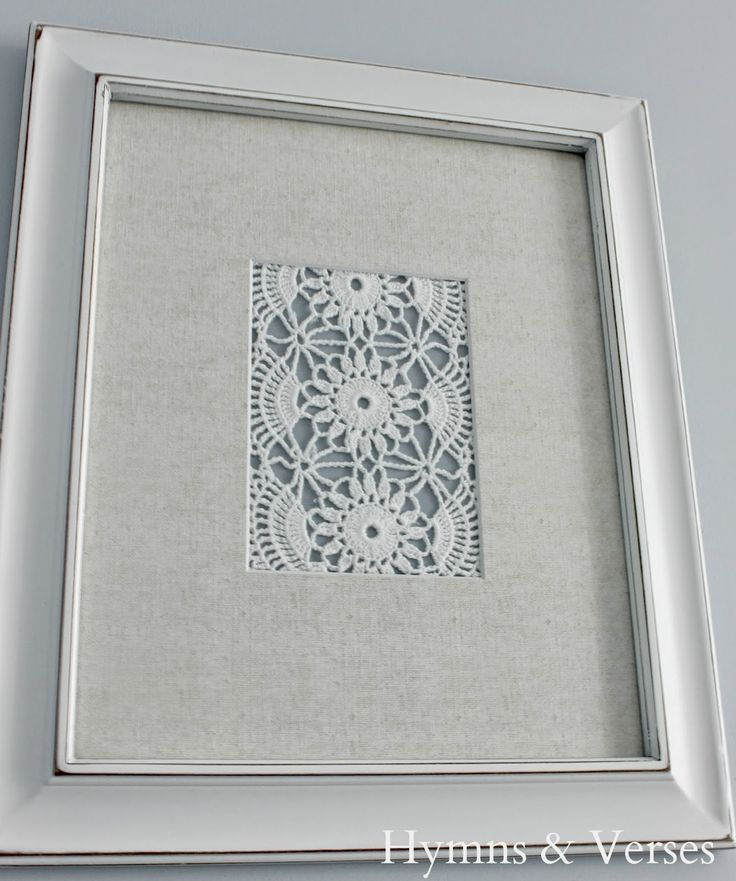 DIY Vintage Doily Art...now I know what to do with my grandmother and great grandmothers handiwork!