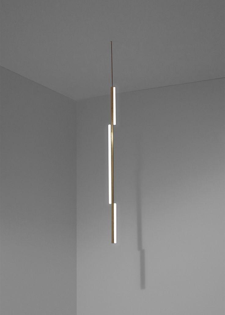 Michael Anastassiades linear brass lighting collection — Casas Lautes