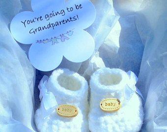 Pregnancy Announcement Grandparent Baby Due by WeDoSmallOriginals
