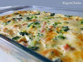 Pastel de brócoli y pavo