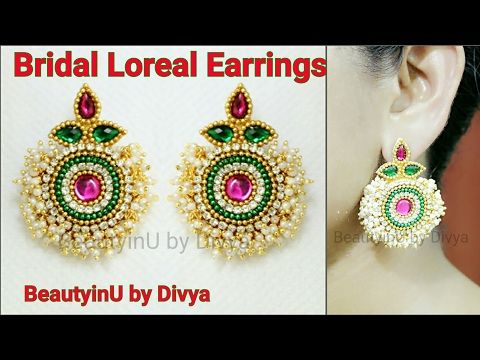 Stunning Bridal Earrings making at Home using Loreals and Paper | DIY - YouTube