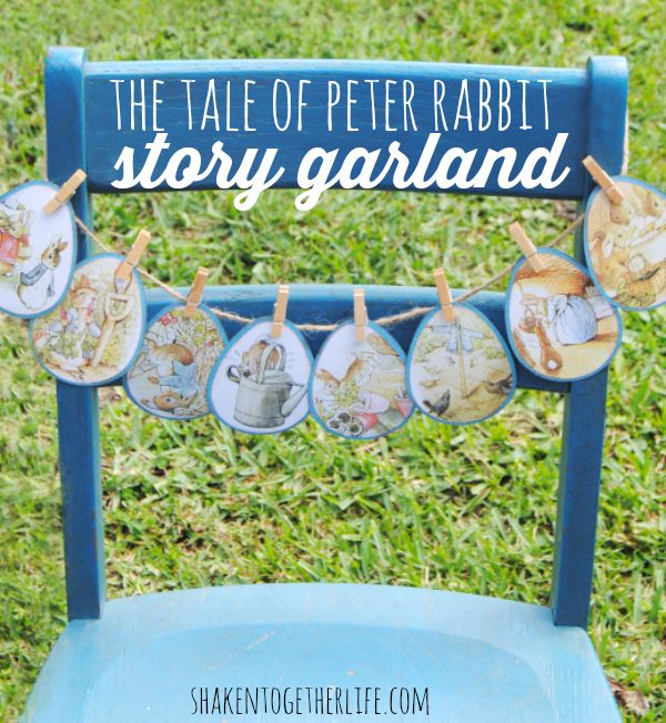 The Tale Of Peter Rabbit Story Garland. Great Idea For