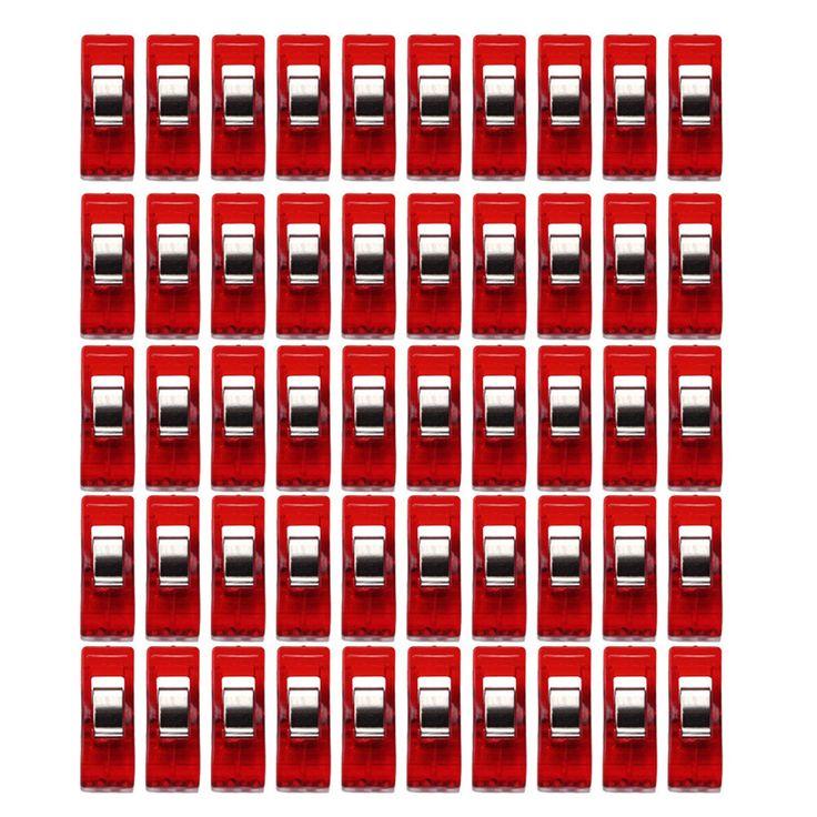 ブルー収納クリップハウスキーピング主催50ピースクリア縫製クラフトキルトバインディングプラスチッククリップクランプパック15UY