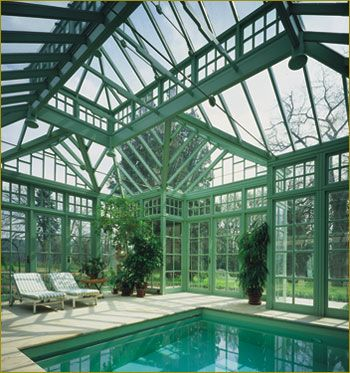 17 best images about conservatories sunrooms on for Swimming pool greenhouse