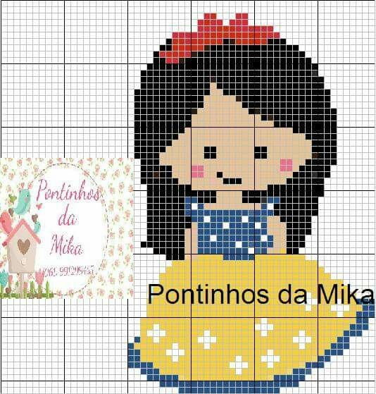Snow White cross stitch. Disney X-S.