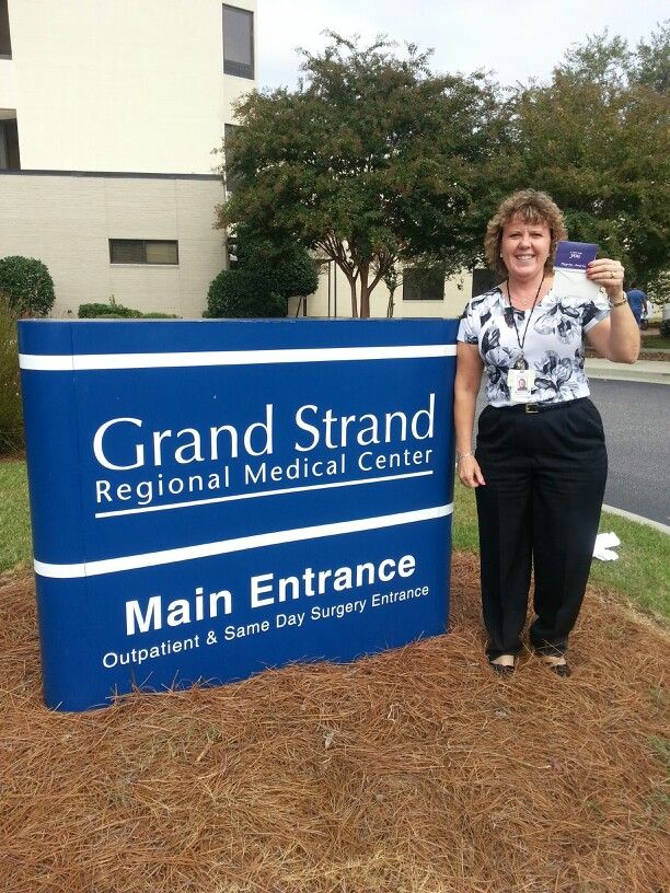 """Pin it to Win it"" prize winner Sandy Gomes of Grand Strand Regional Medical Center! Congratulations!!!"