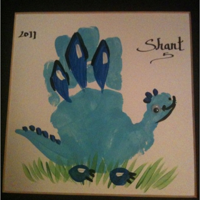 Hand print art work