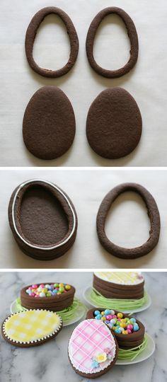 Biscotti pasquali fatti a forma di scatola...geniali!