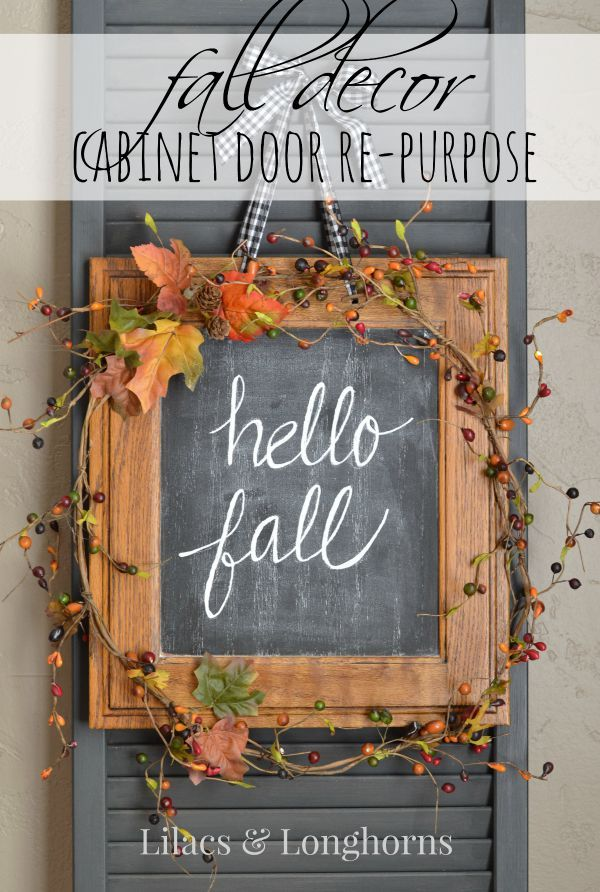 Repurposed Fall Décor {Hospitality Filled Homes} | http://www.lilacsandlonghorns.com/repurposed-fall-decor-hospitality-filled-homes.html: