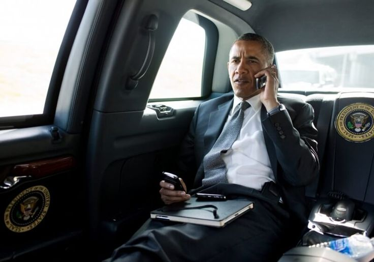 Obama upgrades from BlackBerry but admits his new phone is far from smart