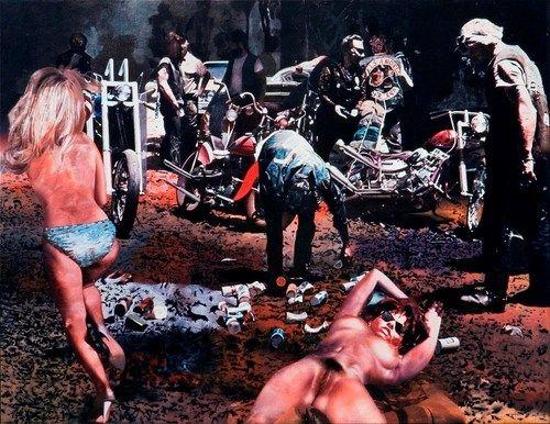 The fuck? Hells Angels Calif 1966 69 Painting by John E Franzen Copy 1 No Pin No Patch | eBay