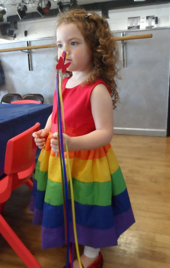 10 Rainbow Party Favors Twirling Wands Perfect by LittleLadyLilys