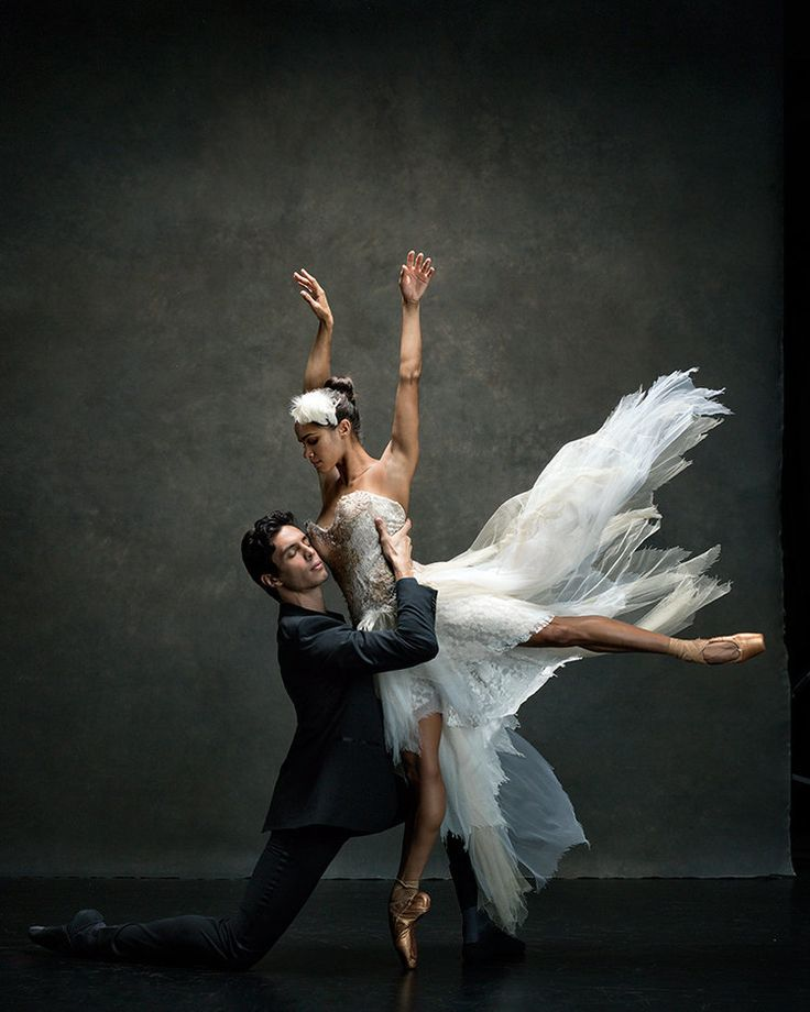 Misty Copeland and Alexandre Hammoudi of the American Ballet Theatre. Welcome To The Dance World, Where Ballerinas Defy Gravity In Ballgowns | Huffington Post