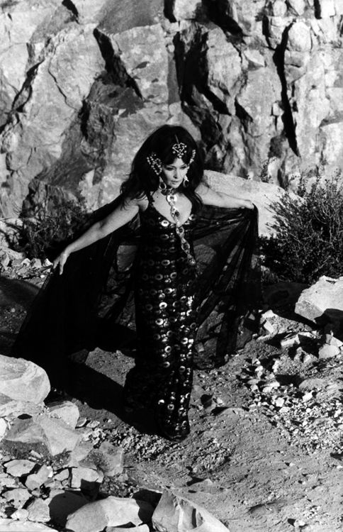 1971. Ludmilla Tchérina extravagantly and exotically bedecked as Antinea for the television drama L'Atlantide.