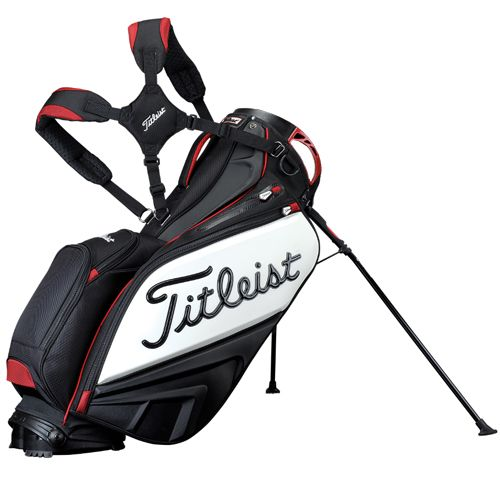 Titleist Staff Tour Golf Stand Bag Black/White/Red TB4SXSF-0