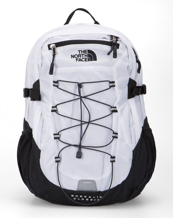 THE NORTH FACE White and Black Borealis Classic Backpack