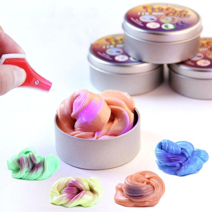 スライムパテ紫外線変色粘土のおもちゃ2017新しい楽しいスライムdiyのカラー粘土のおもちゃ子供のためのストレスを解消ギャグ実用ジョーク