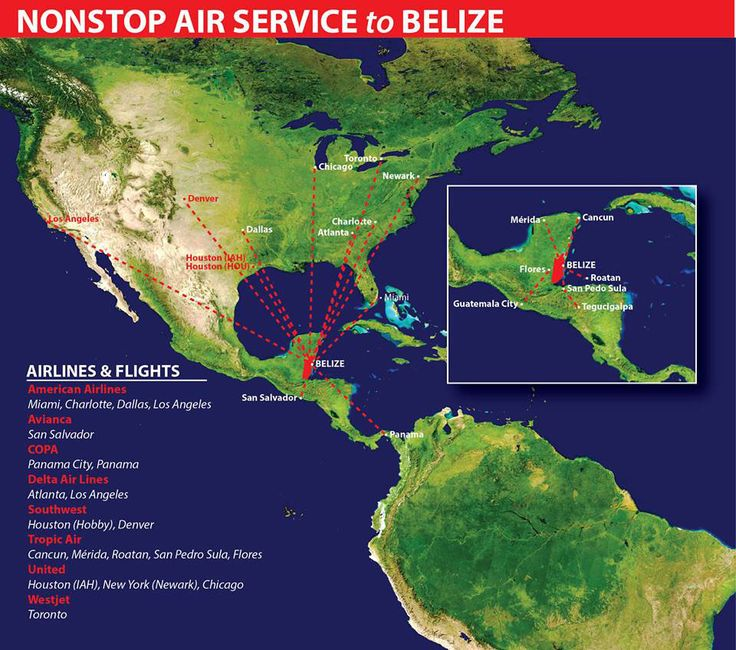 non stop flights to belize