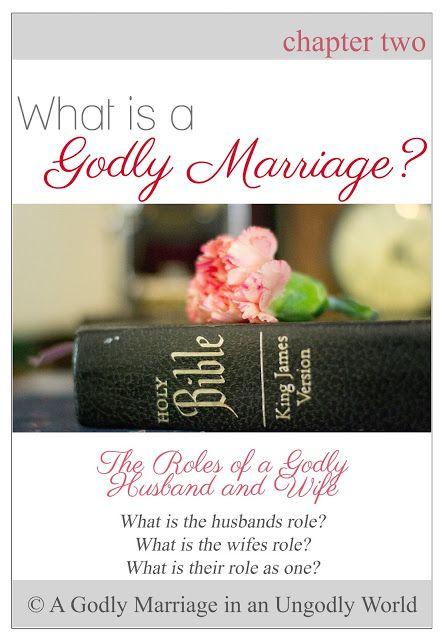 A Godly Marriage in an Ungodly World: What is a Godly Marriage? | The Roles of a Godly Husband and Wife