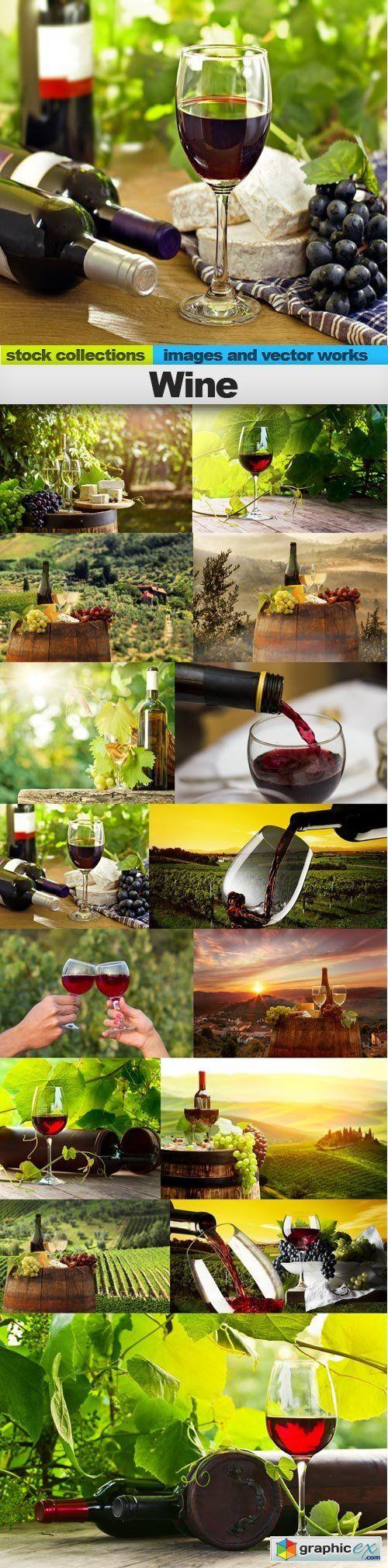 Wine, 15 x UHQ JPEG