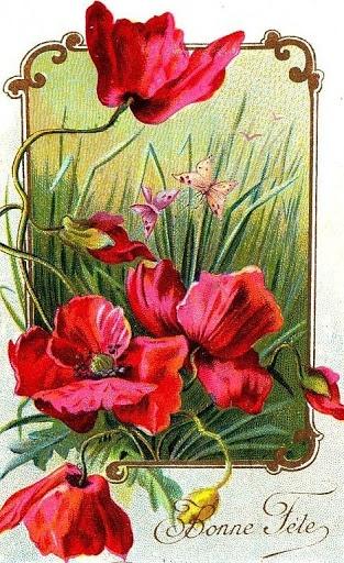 Vintage Postcard 'Bonne Fete' = Happy New Year